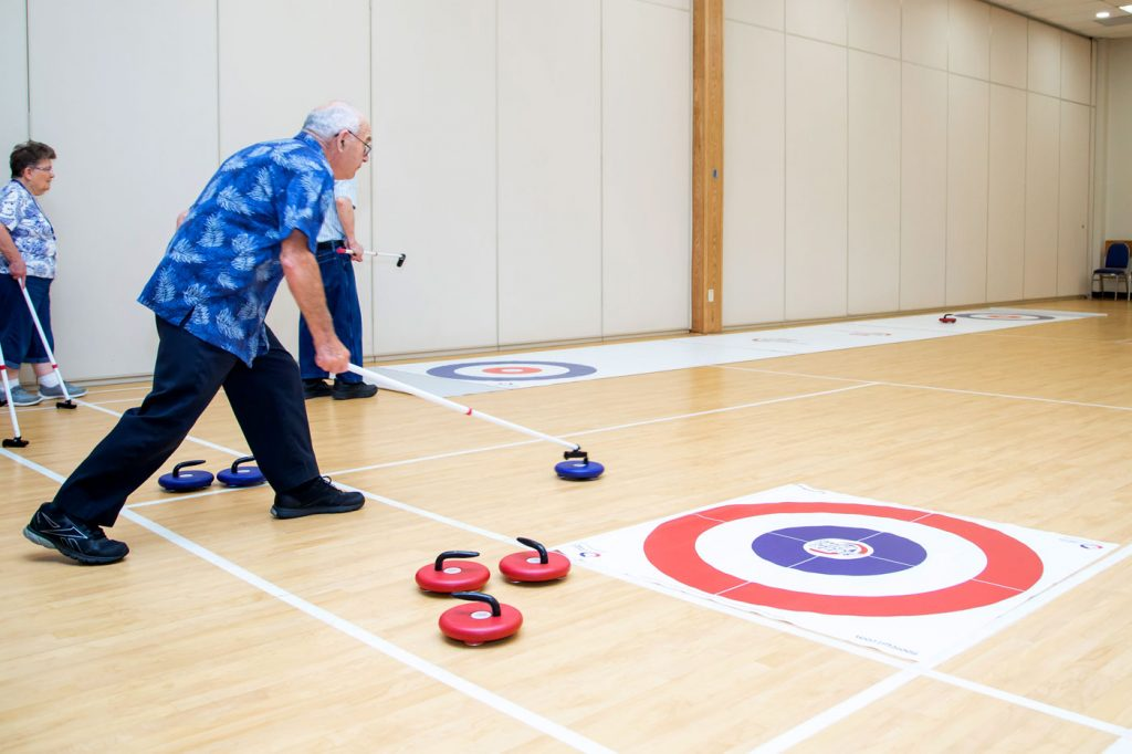 curling activities for senior centers
